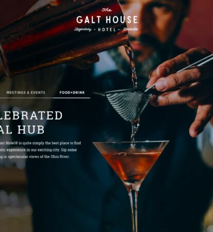 galt house hotel website home page