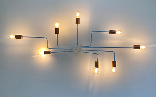 Wired frames with Light bulbs