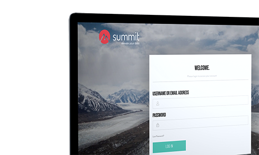 summit log in page displayed on laptop screen