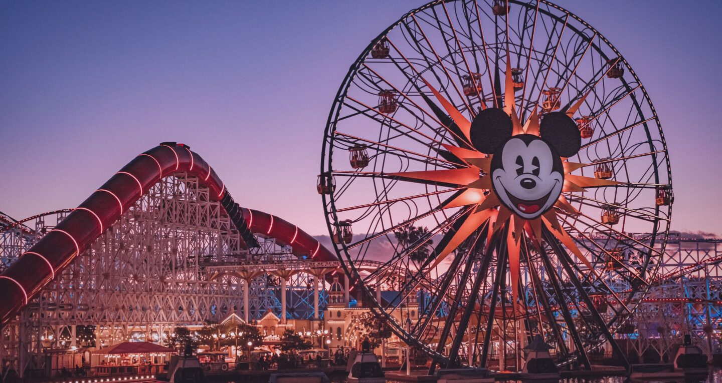 ferris wheel with micky mouse
